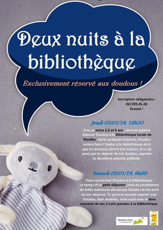 Accueil Deux Nuits à La Bibliothèque Exclusivement Réservé Aux