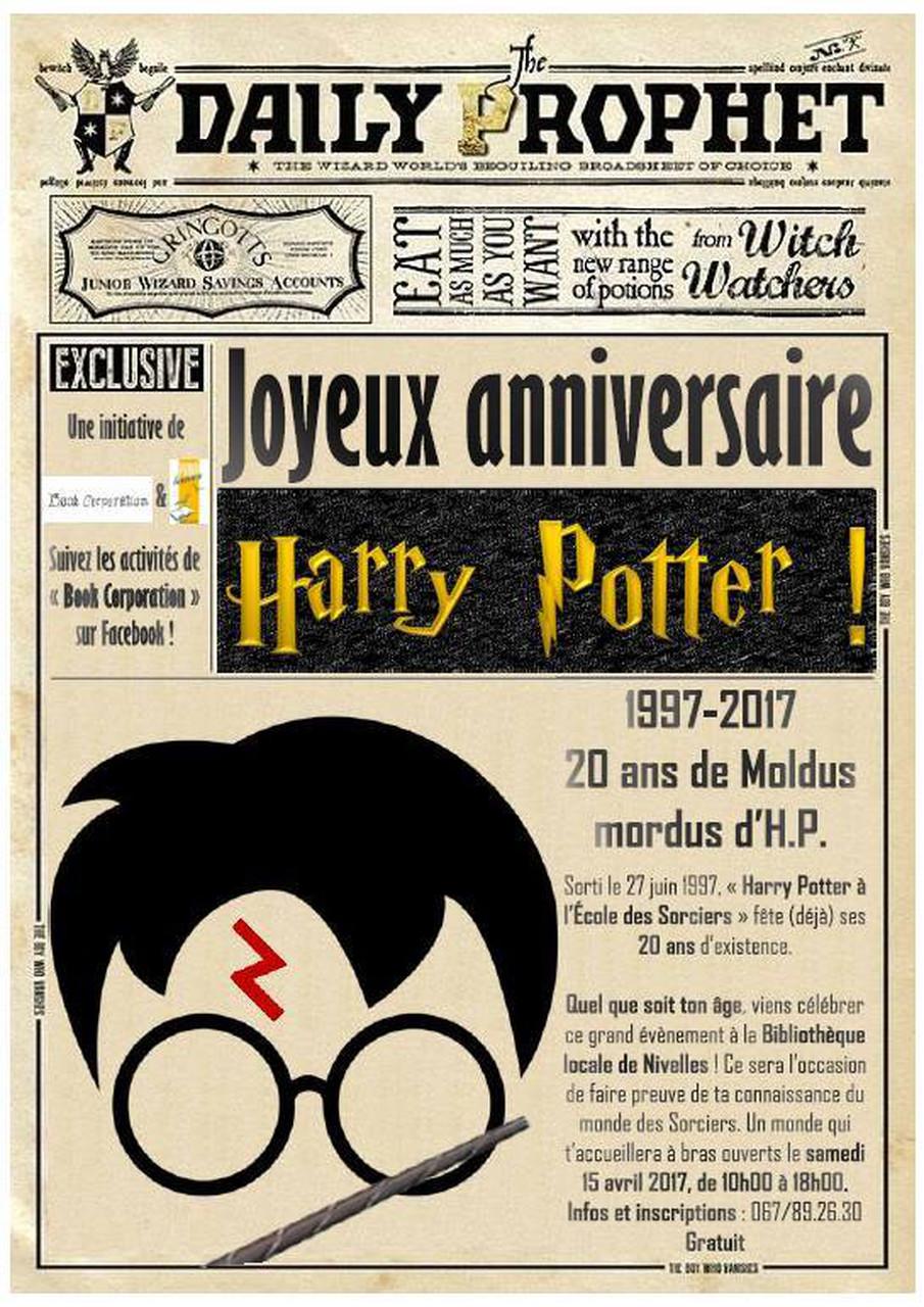 Harry Potter Joyeux Anniversaire Harry Potter Bibliotheque De Nivelles
